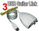 ▼★[送料無料挑戦]人気NO.1のエレキギター/ベース対応シールド入力&ステレオ音声端子入力接続USBケーブル『最新版 USB Guitar Link』