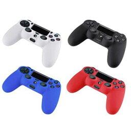 [送料無料]SONY PS4コントローラー用保護シリコンケースカバー 全4色(ブラック黒色/ホワイト白色/ブルー青色/レッド赤色) [Playstation4 ソニー プレステ4 周辺機器 汚れ防止 操作機<strong>本体</strong>保護]