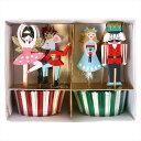 MeriMeri【NUTCRACKER】くるみ割り人形テーマのカップケーキキット 24カップケース&トッパーセット