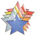 あす楽!【MeriMeri】スターシェイプ パーティープレート 8色×8ピースセット Jazzy-Star