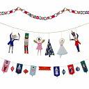 【NUTCRACKER】くるみ割り人形テーマのクリスマスガーランドキット ガーランド、3Dドールガーランド、チェーンキット