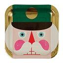 【Nutcracker くるみ割り人形】ゴールドフォイルパーティプレート Lサイズプレート 8ピースセット