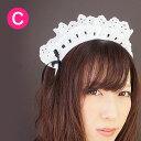キャンフルオリジナルのカチューシャ♪安心の日本製♪ローズレースカチューシャ