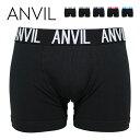 anvil アンビル ボクサーパンツ メンズ ANV531 無地 コットン 男性 下着 アンヴィル 大きいサイズ
