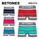 BETONES ビトーンズ ボクサーパンツ BREATH BLACK メンズ BB001