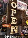 アメリカンサイン・ウィズライト(OPEN)【3カラー展開 選択可】 ■ アメリカ雑貨 アメリカン雑貨