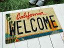 アメリカンライセンスプレートのココマット(カリフォルニア) ...