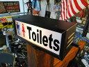 トイレのサインランプ ■ アメリカ雑貨 アメリカン雑貨 アメ雑貨 アメリカ 雑貨 サインプレート トイレ 看板