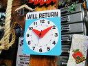 ユニークな壁掛け時計! ウィルリターンクロック ■ アメリカ雑貨 アメリカン雑貨 壁掛け時計 おしゃれ 人気 おもしろ雑貨 グッズ インテリア雑貨 ブランド アメリカ 通販 キッカーランド