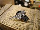 ガンマニアのための銃型ピンバッジ(ワルサーP38) ■ アメリカ雑貨 アメリカン雑貨 アメリカ 雑貨 ピンバッジ ファッション ピンバッチ..