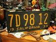 【レプリカ】1930年代のカリフォルニア州のアンティークライセンスプレート レプリカ(ブラック/英語が下) ■ ナンバープレート アメリカ看板 サインプレート アメリカ雑貨 アメリカン雑貨
