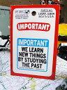 警告コトワザステッカー(重要/故きを温ねて新しきを知る) ■ アメリカ雑貨 アメリカン雑貨 世田谷ベース 人気のアメリカ雑貨屋 おしゃれ おもしろ アメリカン雑貨 車 バイク スーツケース デカール シール かわいい アルファベット 英文字 レトロ