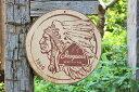 昔のアドバタイジングのウッドサイン(イロコイビアー) ■ 木製 ウッド アメリカ 看板 サインプレート サインボード …