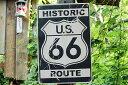 昔のルート66のウッドサイン(ヒストリックルート66/縦) ...