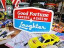 コトワザのステッカー LLサイズ(笑う門には福来たる) ■ アメリカ雑貨 アメリカン雑貨