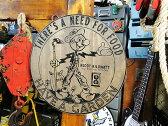 レディキロワットのウッドサイン ■ 木製 ウッド アメリカ 看板 サインプレート サインボード アンティーク アメリカン雑貨 アメリカン雑貨