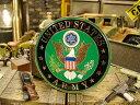 ミリタリーカーグリルバッジ(U.S.アーミー/ブラック) ■ アメリカ雑貨 アメリカン雑貨