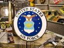 ミリタリーカーグリルバッジ(U.S.エアフォース) ■ アメリカ雑貨 アメリカン雑貨