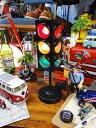 ミニカーと並べて飾る! アメリカの信号機ライト(ブラック) ■ ミニカー アメ車 アメリカ雑貨 アメ