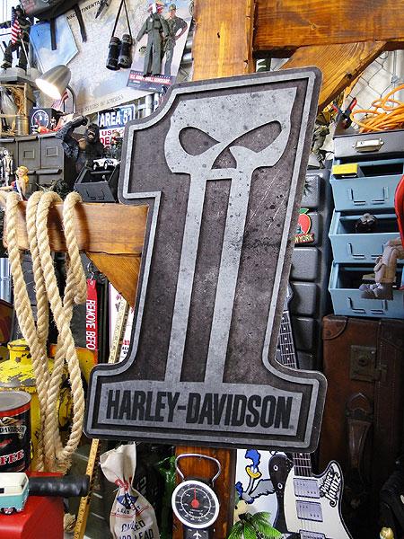 ハーレーダビッドソン #1スカル・ウッドサイン ...の商品画像