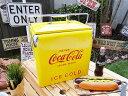 【全国送料無料】コレが手にはいるなんて嬉しすぎる♪コカ・コーラブランド レトロピクニックストレージ(イエロー) ■ コカコーラグッズ Coca-Cola アメリ...