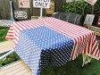 星条旗のテーブルクロス(ホワイト) ■ アメリカ雑貨 アメリカン雑貨 カントリー雑貨 調