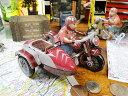懐かしのブリキのおもちゃ バイクサイドカー 【楽天1位】 ■ こだわり派が夢中になる! 人気のアメリカ雑貨屋 アメリカ 雑貨 アメリカン雑貨 おしゃれ インテリア 小物 オブジェ 置物 生活雑貨