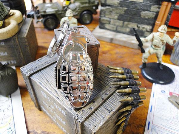 ミリタリーメタルキーリング(手榴弾) ■ アメ...の紹介画像2