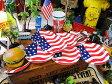 星条旗のペーパープレート 8枚入り(Sサイズ) ■ アメリカ雑貨 アメリカン雑貨 お花見グッズ 使い捨て キッチン用品 アウトドア バーベキュー キャンプ 皿 おしゃれ 取り皿 人気 こだわり派が夢中になる人気のアメリカ雑貨屋