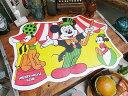 まるで50年代のディズニーホテル気分♪ 50'sヴィンテージ ミッキーマウスのランチョンマット(サーカス) ■ アメリカ雑貨 アメリカン雑貨 生活雑貨 こだわり...