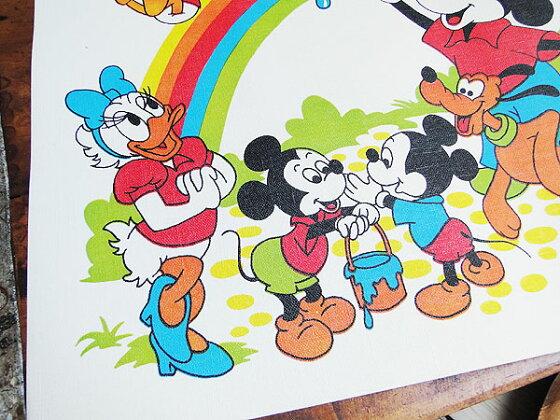 50'sヴィンテージミッキーマウスのランチョンマット(レインボー)★アメリカ雑貨★アメリカン雑貨