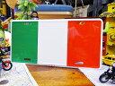 世界の国旗のライセンスプレート(イタリア) ■ ナンバープレート アメリカ看板 サインプレート アメリカ雑貨 インテリア 人気 アメリカン ...