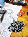 鉄馬ロゴをいつもポケットにどうぞ! ハーレーダビッドソンのメタルキーリング(バー&シールド) ■ アメリカン雑貨 人気 アメリカ雑貨..