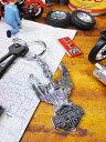 鉄馬ロゴをいつもポケットにどうぞ! ハーレーダビッドソンのメタルキーリング(ハーレーイーグル/バー&シールド ) ■ アメリカン雑貨 人気 ...