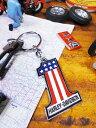 鉄馬ロゴをいつもポケットにどうぞ! ハーレーダビッドソンのメタルキーリング(ナンバーワンロゴ/星条旗) ■ アメリカン雑貨 人気 アメリカ雑貨 通販 インテリアグッズ かっこいい男の部屋 アメリカン雑貨 小物 キーホルダー ハーレー ダビッドソン キーリング