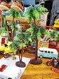 南の島のヤシの木のオブジェ(台付き/2サイズセット) ■ アメリカ雑貨 アメリカン雑貨 アメリカ 雑貨ハワイ雑貨 ハワイアン 雑貨 インテリア 人気 小物 カー用品 パームツリー 椰子の樹 車 カーアクセサリー アクセント おしゃれ おもしろ 装飾 アメリカ雑貨屋