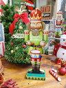 ナッツクラッカー人形のスタンドオブジェ(ドラマー) ■ 飾り インテリア 装飾 ガーランド メリー クリスマス ディスプレイ xmas デコレーション ツリー パーティーグッズ オーナメント アメリカン雑貨 プレゼント ギフト 人気