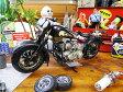 ハーレーのブリキバイクオブジェ(ブラック) ■ アメリカ雑貨 アメリカン雑貨