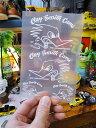 クレイスミスの抜きステッカー(ホワイト) ■ 自分仕様だから愛着も強くなる! こだわり派が夢中になる人気のアメリカ雑貨屋 ステッカー アメリカン雑貨 車 バイク スーツケース デカール シール アメキャラ アルファベット 世田谷ベース アメリカ 雑貨