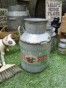 ミルク缶型のグリーンポット ■ アメリカ雑貨 アメリカン雑貨