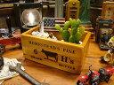 こういう木箱が欲しかった!ホームステッド バターボックス ■ アメリカ雑貨 アメリカン雑貨 カントリー雑貨 収納 ナチュラル雑貨 屋内 生活雑貨