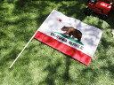 カリフォルニア州旗 スティックフラッグ(Lサイズ) ■アメリカ雑貨 アメリカン雑貨