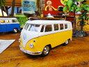 1963年サーフワーゲンバスのミニカー(イエロー) ■ アメリカ雑貨 アメリカン雑貨 西海岸 西海岸スタイル アメリカ 雑貨 インテリア 小物