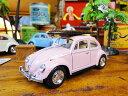 1967年サーフビートルのミニカー 1/32スケール(ピンク) ★アメリカ雑貨★アメリカン雑貨★アメ雑貨