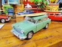 1955 シボレーノマド・サーフのミニカー1/40(グリーン) ★アメリカ雑貨★アメリカン雑貨★アメ雑貨