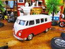 1963 ワーゲンバスのミニカー(レッド) ■ ミニカー アメ車 アメリカ雑貨 アメリカン雑貨 アメリカ 雑貨 インテリア こだわり派が夢中になる人気のアメリカ...
