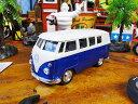 1963 ワーゲンバスのミニカー(ブルー) ■ ミニカー アメ車 アメリカ雑貨 アメリカン雑貨 アメリカ 雑貨 インテリア こだわり派が夢中になる人気のアメリカ...