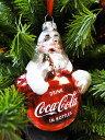 コカ・コーラブランド クリスマスオーナメント(サンタクロース) ■ 飾り インテリア 装飾 ガーランド メリー クリスマス ディスプレイ xmas デコレーション ツリー パーティーグッズ オーナメント アメリカン雑貨 プレゼント ギフト 人気 おしゃれ コーラ