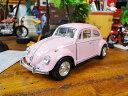 1967年フォルクスワーゲン・ビートルのダイキャストミニカー 1/32スケール(ピンク) ■ アメリカ雑貨 アメリカン雑貨