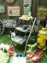ダルトン フォールディング3ステップスラダー(サビ塗装) ■ アメリカ雑貨 アメリカン雑貨